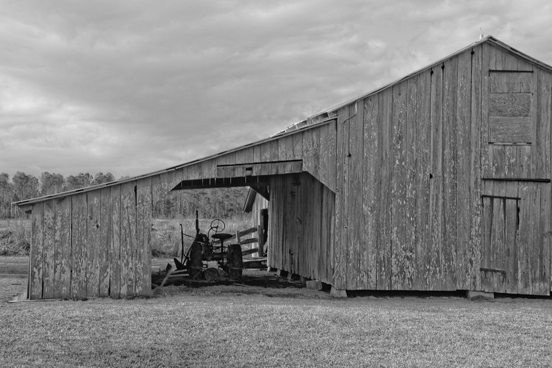Barn and Tractor in Rose Bay, NC