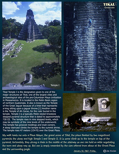 Temple I, Tikal, Guatemala. January 30, 1987