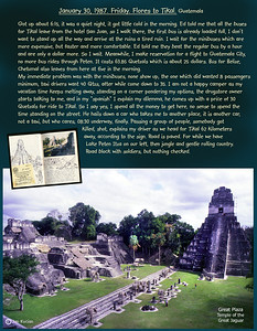 Flores to Tikal, Guatemala. January 30, 1987