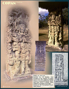 Stela B. Copan ruins, Honduras. February 27, 1987