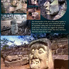Heads of Copan ruins, Honduras. February 27, 1987
