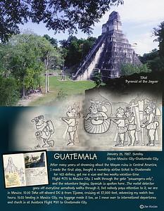 In pursuit of Mayan ruins. Guatemala- Honduras. February 1987