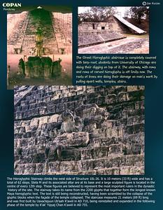 Hieroglyphic Stairway, Copan ruins, Honduras. February 27, 1987