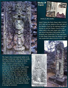 Stela P. Copan ruins, Honduras. February 27, 1987