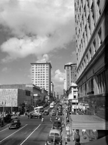 A look at Forsyth & Main. Photo by Robert E. Fisher Collection. Courtesy of State Archives of Florida, Florida Memory, http://floridamemory.com/items/show/166925