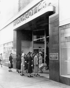 Women waiting outside Furchgott's in 1949. Photo by Jack Spottswood. Courtesy of State Archives of Florida, Florida Memory, http://floridamemory.com/items/show/51259