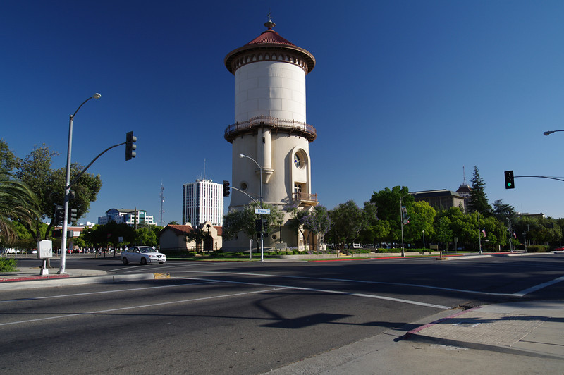The Water Tower and Downtown Fresno