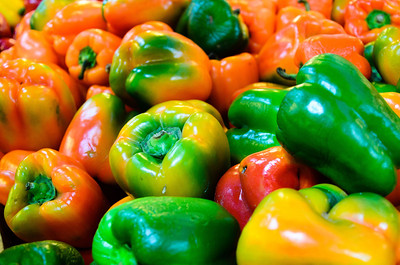 The peppers were quite colorful inside the Grand Central Market.