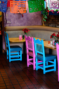 One of the most colorful restaurants seen on Olvera Street.