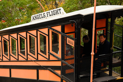 The famous Angels Flight Railway.