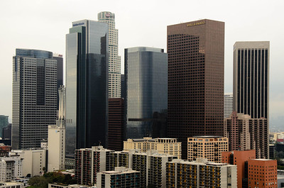 Some of the newer growth in the city of Angels. Also taken from the 27th floor observation deck of the city hall building.