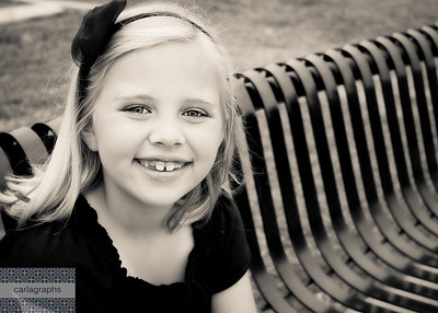 Anna on the Bench, crop warm bw-