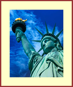 Main-Statue of Liberty Framed 32x38