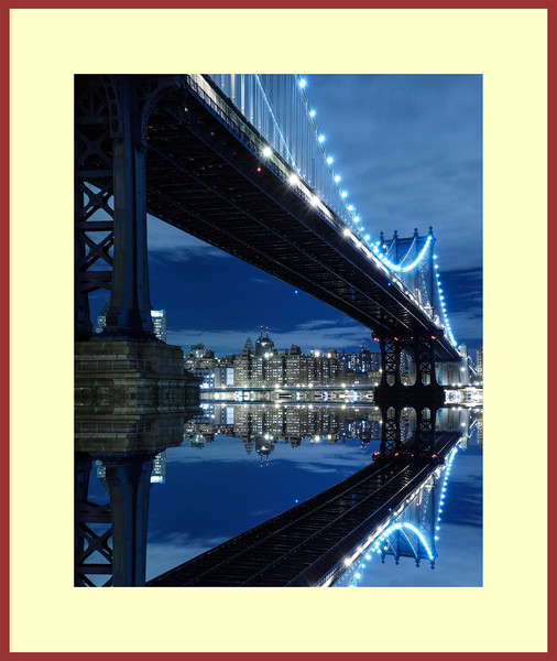 Main-Brooklyn Bridge Framed 32x38