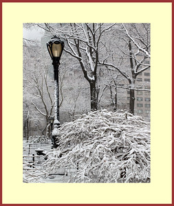 Lamp in Snow Frame 32 x 38