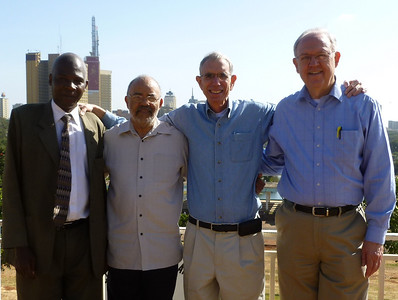 L to R: Elder Paul Muasya, Deaf Ministry Director and President of the East Africa Union of SDA, Elder Thompson Kay, formerly with Christian Record and Adventist Deaf Ministries, Elder David Trexler, Speaker Director of Three Angels Deaf Ministries and Dr. Larry Evans, GC Liaison for Deaf Ministry in the SDA church.  They are just ready to leave on a trip to Western Kenya to visit schools of the deaf and attend a baptism of 36 deaf young people.