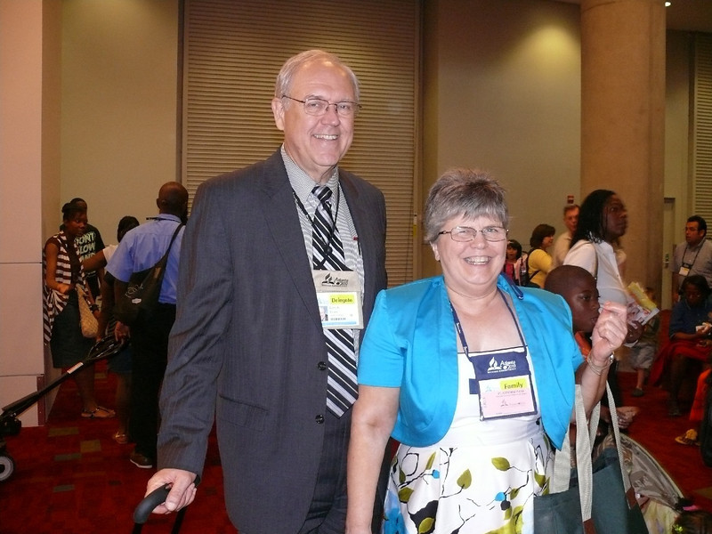 Dr. & Mrs. Larry Evans.  Dr. Evans is a General Conference of SDA Associate Stewardship Director and the Liaison for GC International Deaf Ministry.