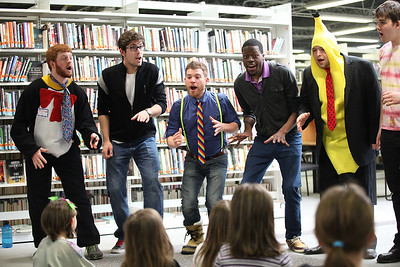 03Mar2013__ The Obertones perform for Dr. Suess Day at the Oberlin Public Library. photo by Ray Riedel