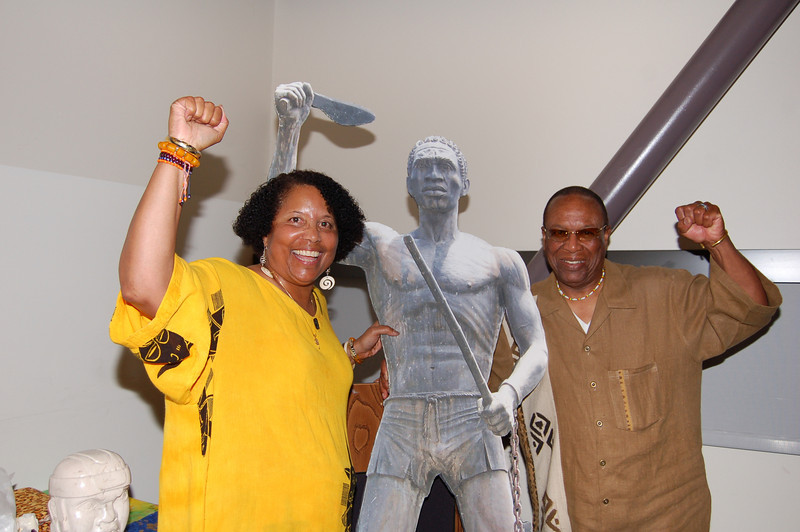 """Dr. Toni Humber and Dr. Kwaku after a spirited class in which Dr. Humber made her presentation """"When Black is Brown."""""""