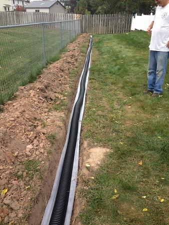 drain in back yard