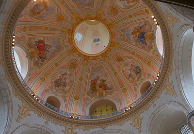 Interior of the Frauenkirche in Dresden