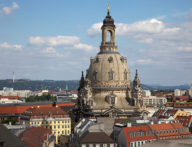 Frauenkirche in Dresden.  View from the Hausmannsturm.