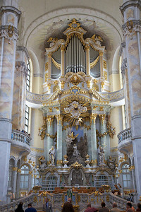High altar in the Frauenkirche in Dresden