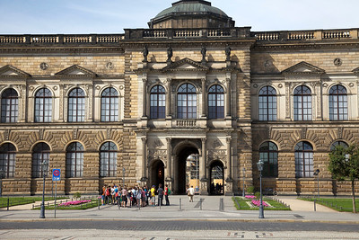 Entrance to the Semperbau wing of the Zwinger Palace