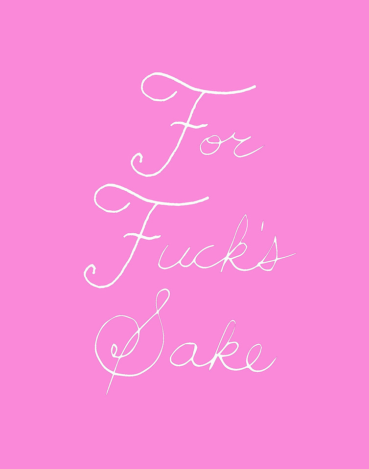 'For Fuck's Sake'<br /> ink drawing + digital coloring<br /> Daniel Driensky © 2014