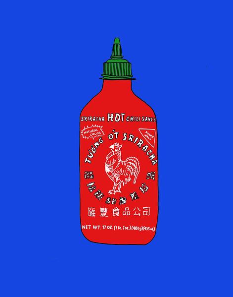 'Sriracha' ink drawing + digital coloring Daniel Driensky © 2014