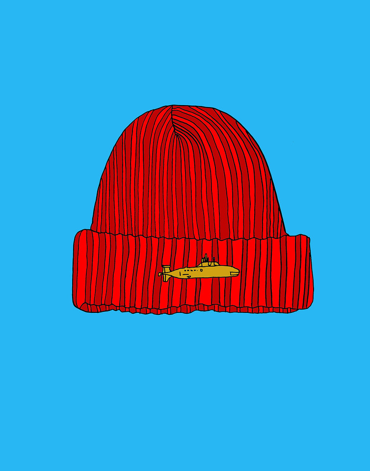 'Red Explorer's Cap'<br /> ink drawing + digital coloring<br /> Daniel Driensky © 2014