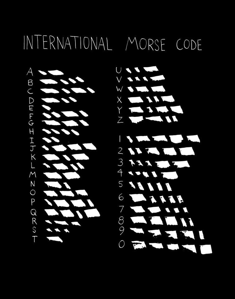 'International Morse Code'<br /> ink drawing + digital coloring<br /> Daniel Driensky © 2014