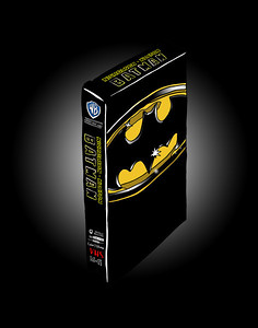 'Batman on VHS' ink drawing + digital coloring Daniel Driensky © 2014