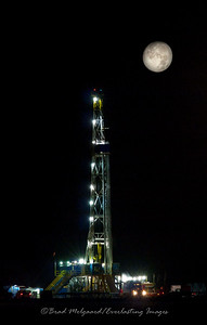 """Drilling by Moonlight Portrait"" - Eddy County, NM"