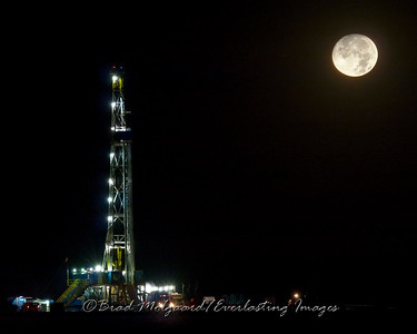 """Drilling by Moonlight"" - Eddy County, NM"