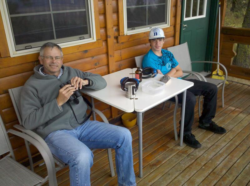 Hangin' out at the cabin in Eastern Washington.