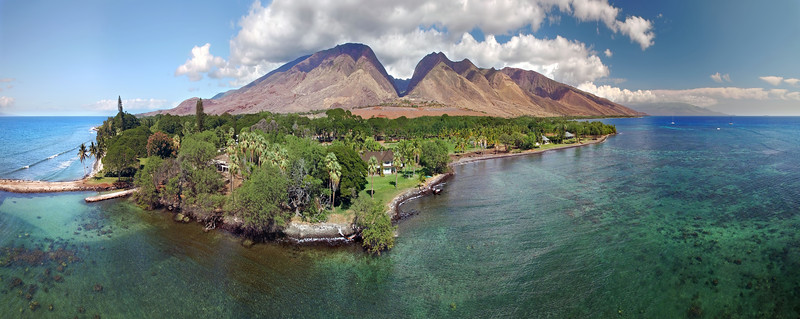 Drone Aerial Panorama - Island of Maui - Hawaii