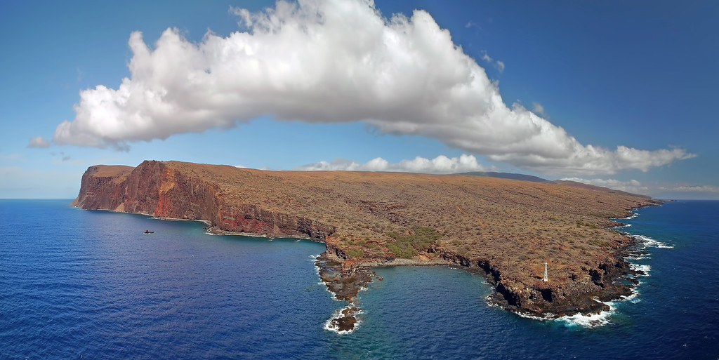 Aerial Panorama - Island of Lana'i - Hawaii