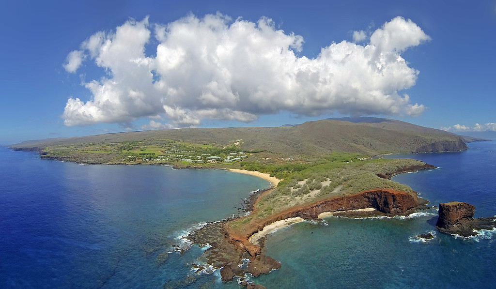 Aerial Panoramic - Island of Lana'i, Hawaii
