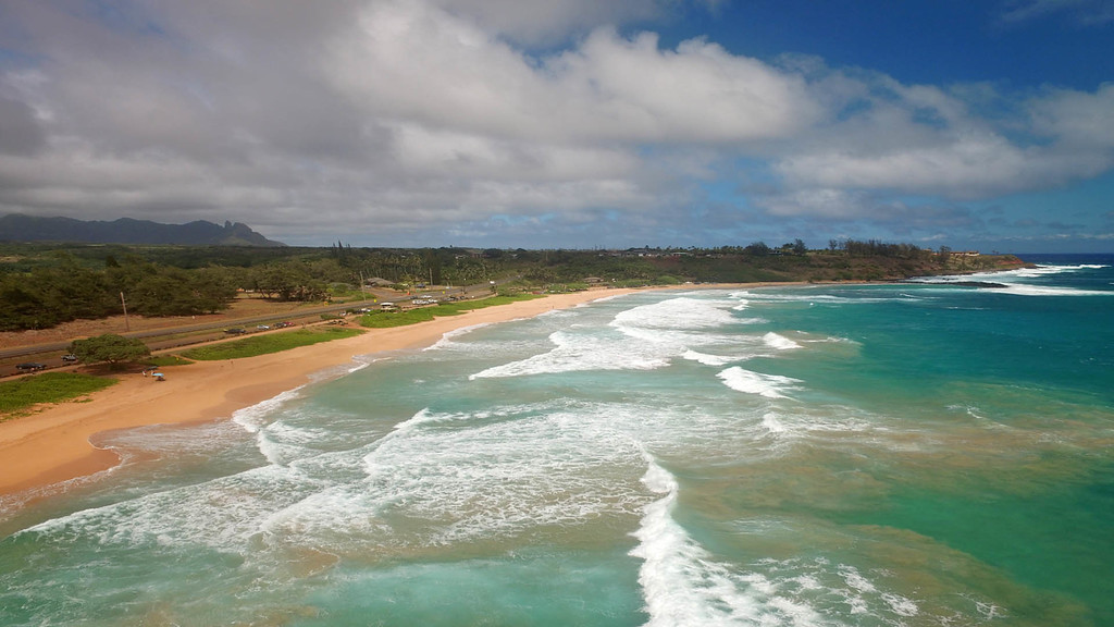 Kealia Beach  - Island of Kauai, Hawaii - www.DroneCamHawaii.com