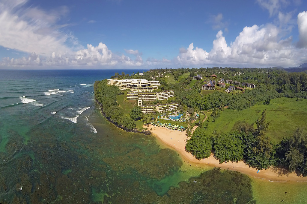 Drone Cam Hawaii - The St. Regis Princeville Resort - Island of Kauai, Hawaii