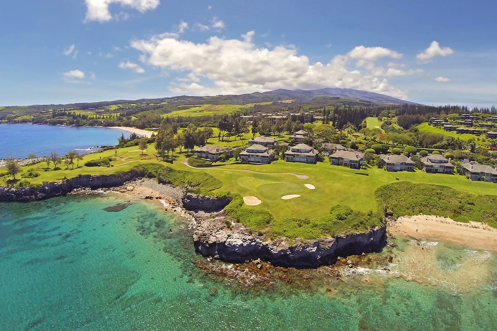 Drone Cam Hawaii - Kapalua Bay Course - Hole #5 - Maui - B2