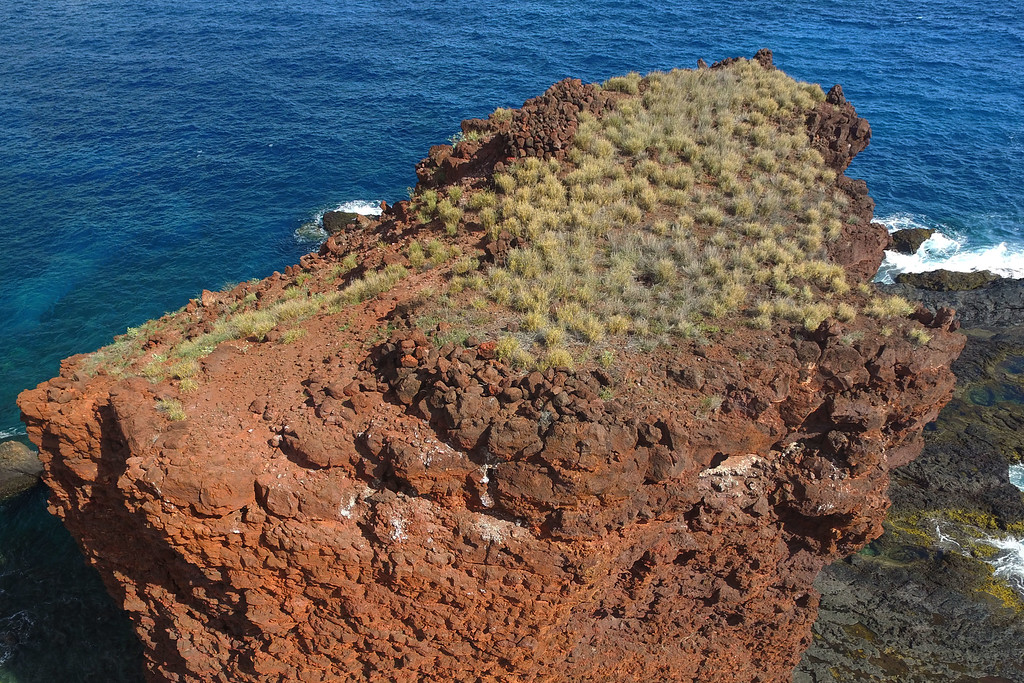 Puu Pehe - Top / Side View - Island of Lana'i, Hawaii