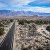 Road to Sierra Nevada Mountains