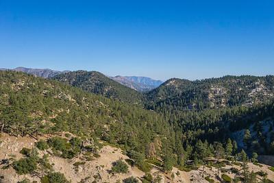 Line of California Mountaintops