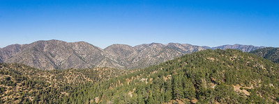 Panorama of Angeles National Forest Mountains