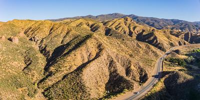 Highway in California Hills