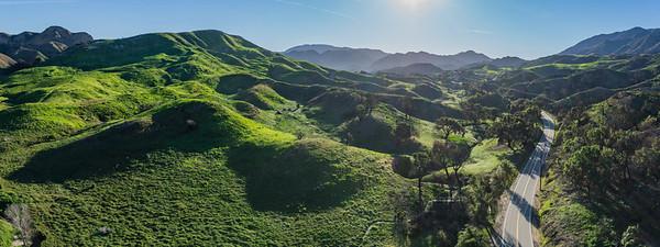Green Southern California Hills