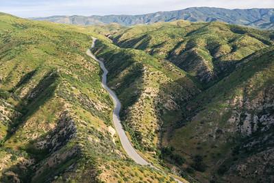 Road through Mountain Valley