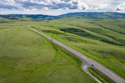 Single Wyoming Highway